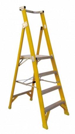 L3 Fibreglass Platform Step Ladder 3m Height 2m Max Standing And